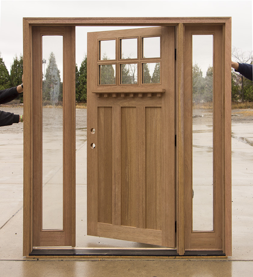 Craftsman Entry Doors : Clearance craftsman entry door with active sidelites