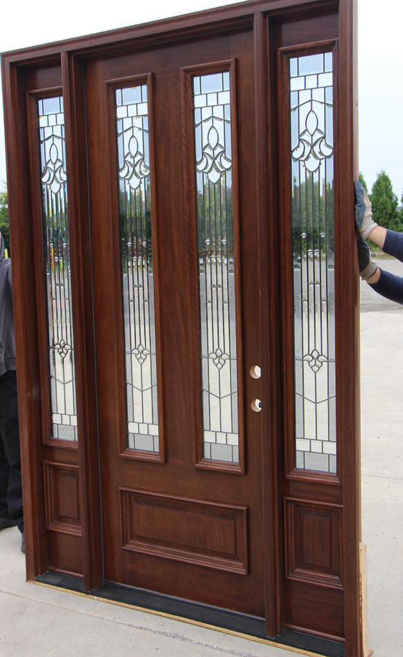 Mahogany Exterior Door And Sidelights