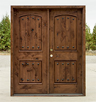 CL-626B rustic double doors prefinished