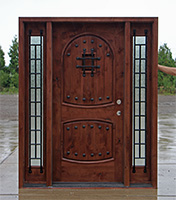 Southwest Style Exterior Door With Sidelights