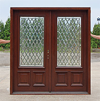 exterior double door with 3 point locking system