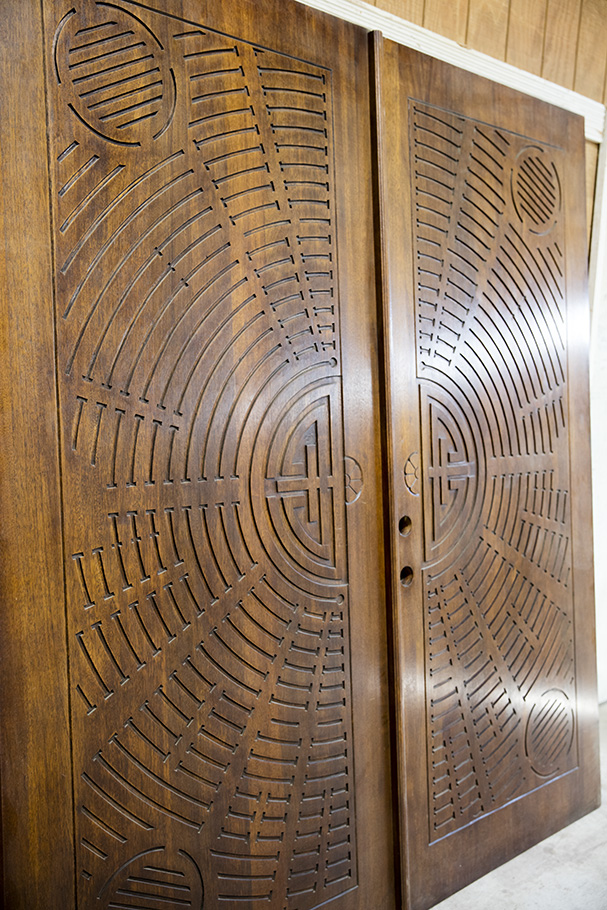 Carved Mahogany Double Doors