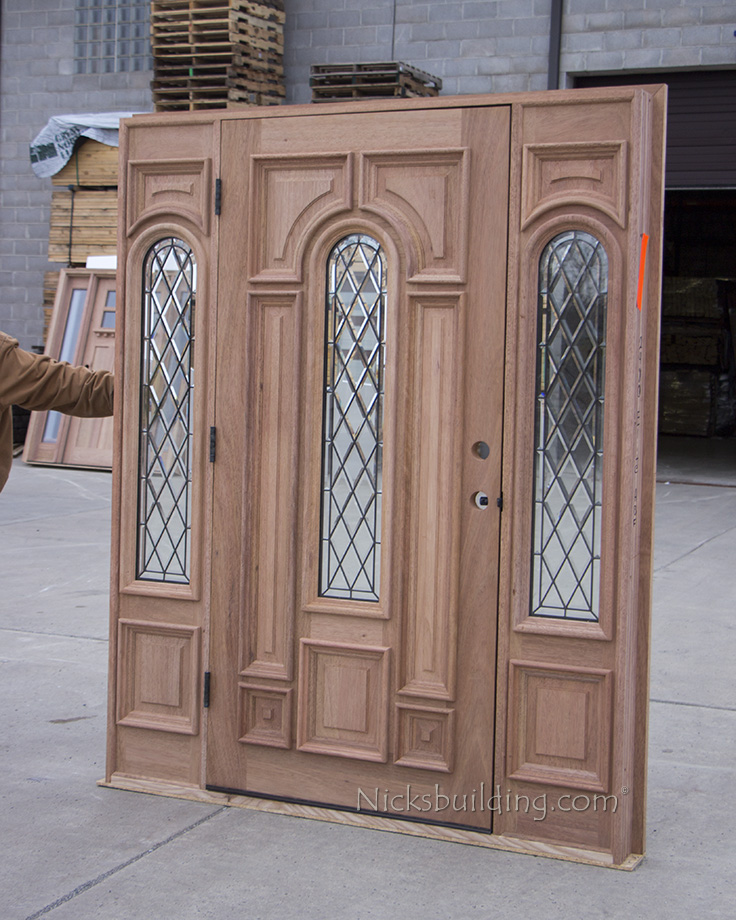 Exterior Solid Wood Mahogany Doors Cl 670