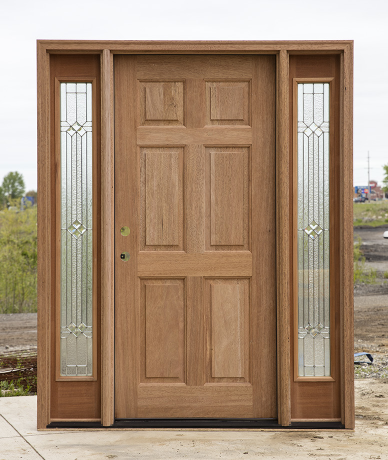 Cl 74 Solid Mahogany Exterior 6 Panel Door