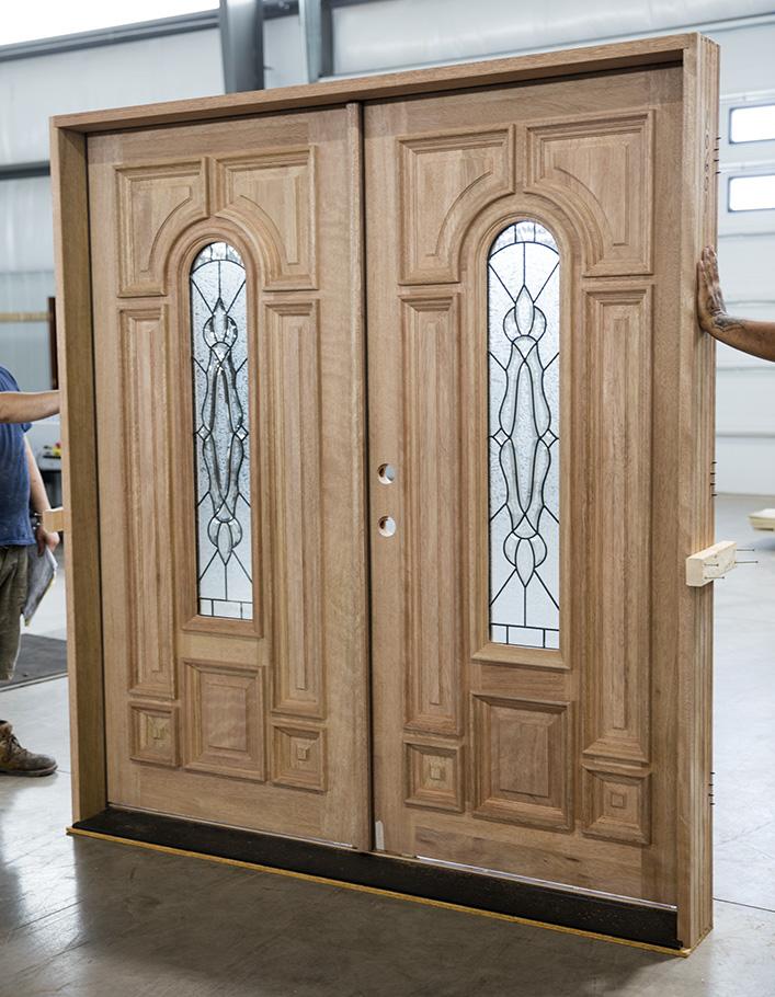 Mahogany Clearance Wood Double Doors