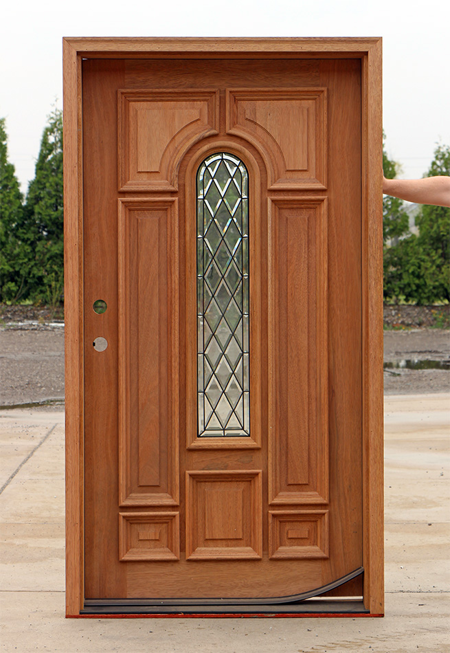 Wide entry door with door lite for Large wooden front doors