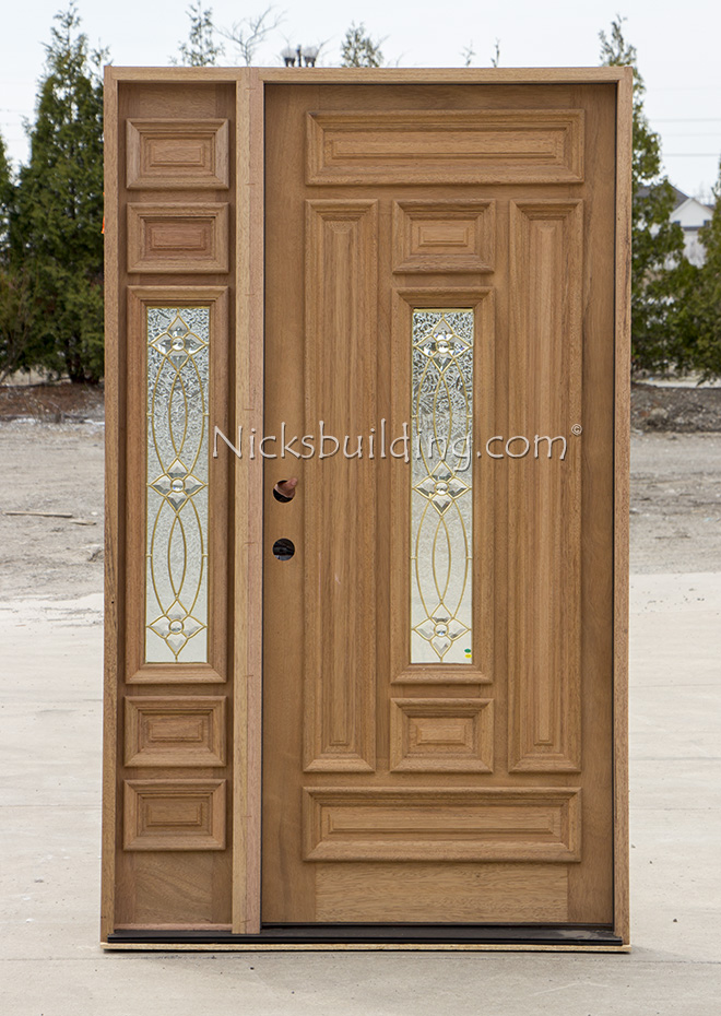 Mahogany Door With Elliptical Transom