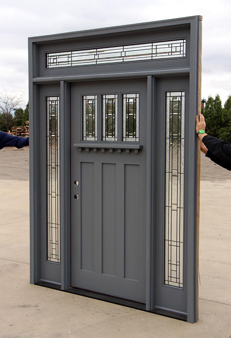 Craftsman Door With Latex Stain