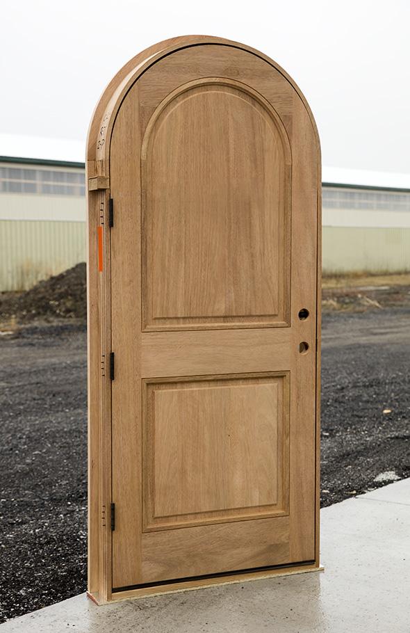 Round Top 2 Panel Front Doors