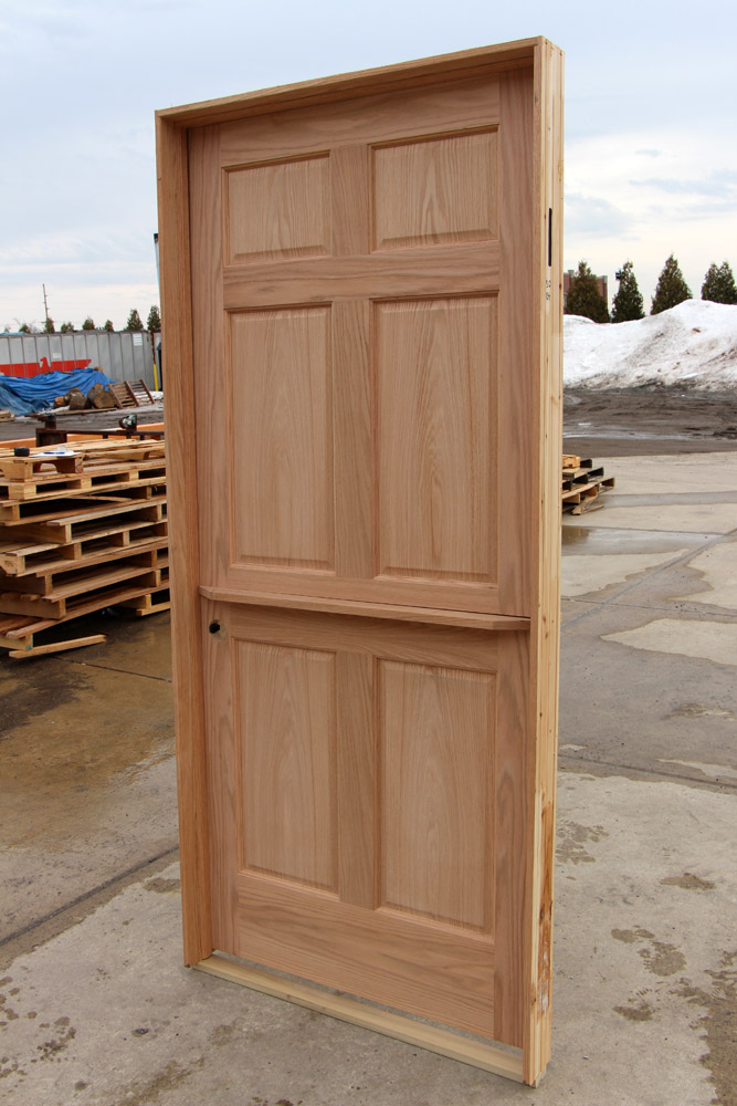 Oak Interior Dutch Door With Shelf