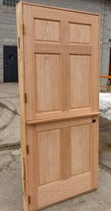 Oak Interior Dutch Door With Shelf