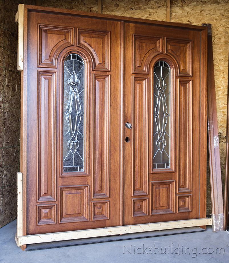 Prefinished mahogany exterior double doors - Prefinished mahogany interior doors ...