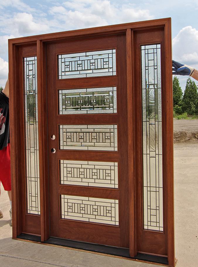 Modern Exterior Door With Multi Point Locks 4 Door Lites: Modern Exterior Mahogany Doors