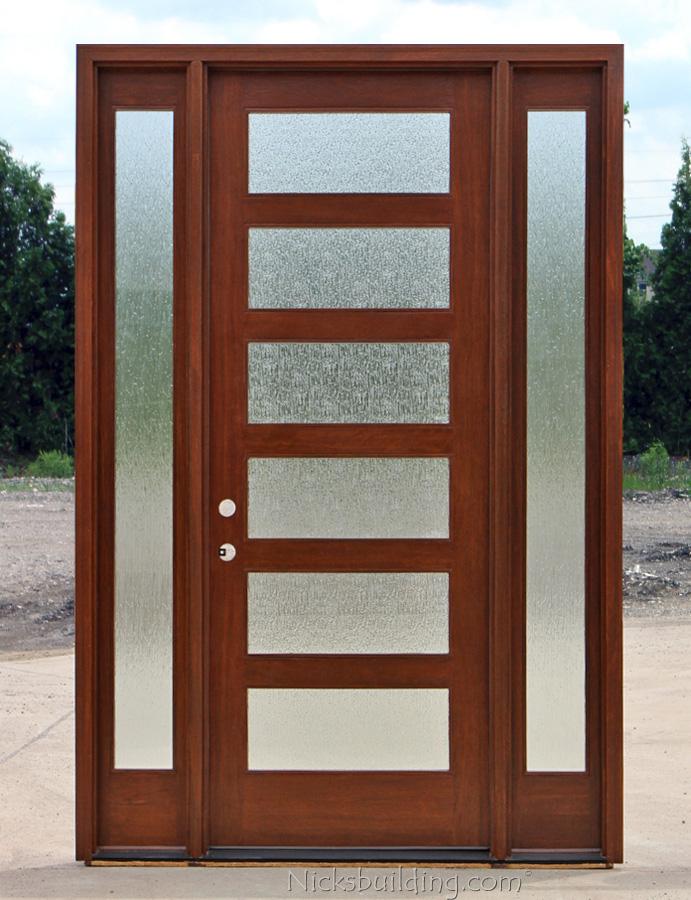 Shaker Exterior Doors With Sidelights
