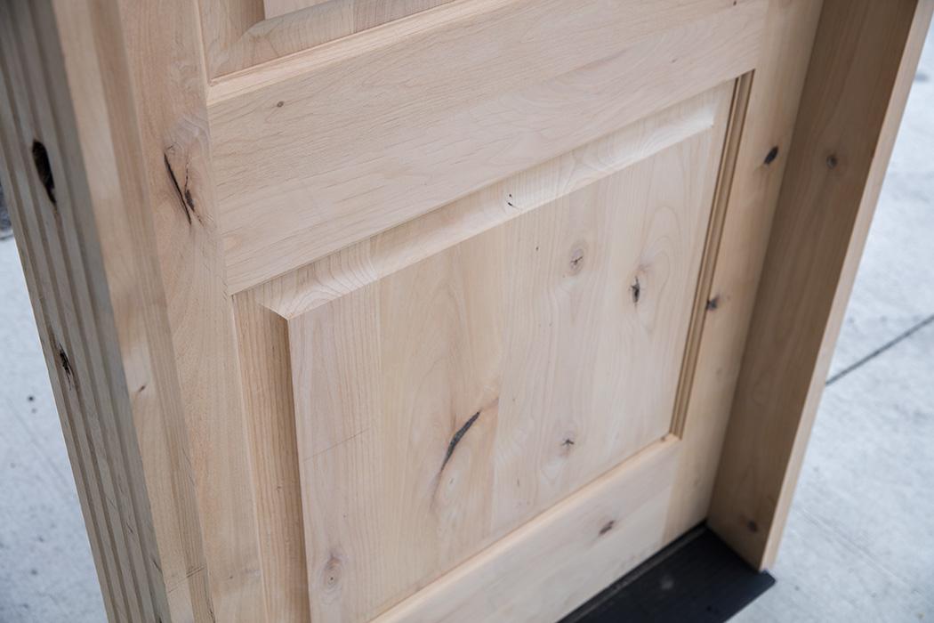 Knotty Alder Round Top Door 36x96