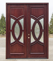 Clearance exterior double doors with rain glass