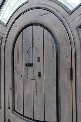 Rustic Arched Door With Faux Finish