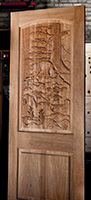 carved mountain lion door