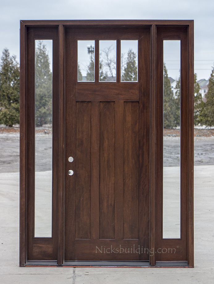 Craftsman exterior wood doors in 8 39 cl 2121d for 8 foot exterior doors