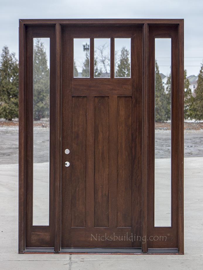 Craftsman Exterior Wood Doors In 8 Cl 2121d