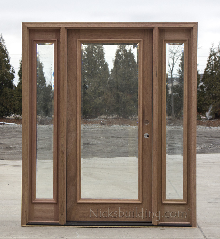 Exterior full lite doors cl 668 for Exterior front entry wood doors with glass