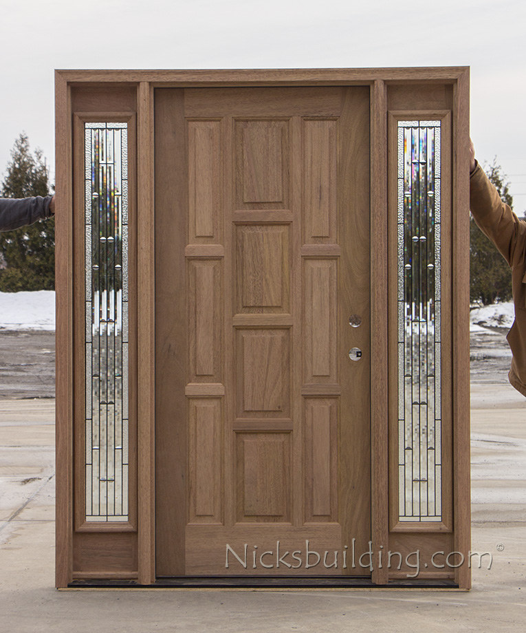 wood front door with sidelights and transom shutters for sale mahogany entry panels cl