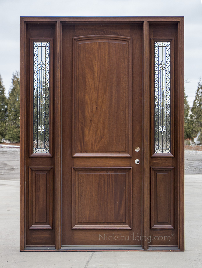 2 panel exterior wood doors cl 2121c for Wooden outside doors