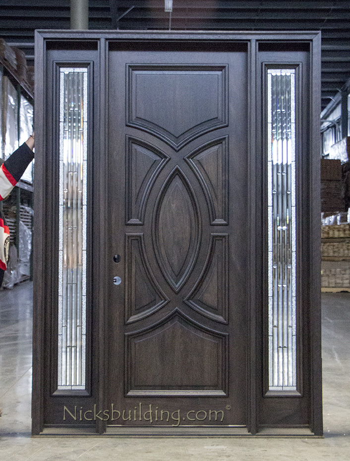 Remarkable Staining Mahogany Exterior Door Ideas Plan 3d House