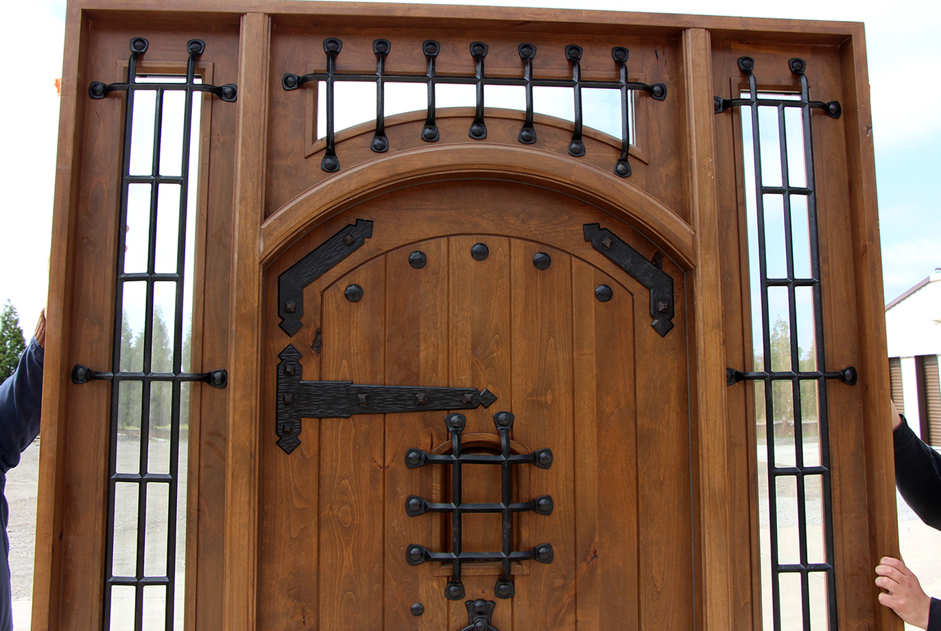 920 #714528 Rustic Castle Door With Sidelights And Transom save image Exterior Doors Discount 45271372