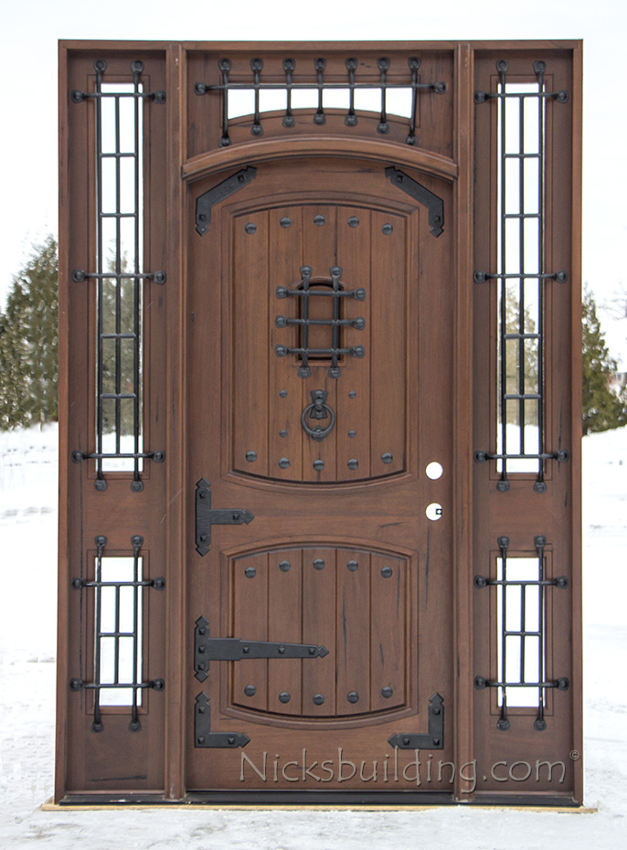 Rustic Teak Castle Door Cl 2177