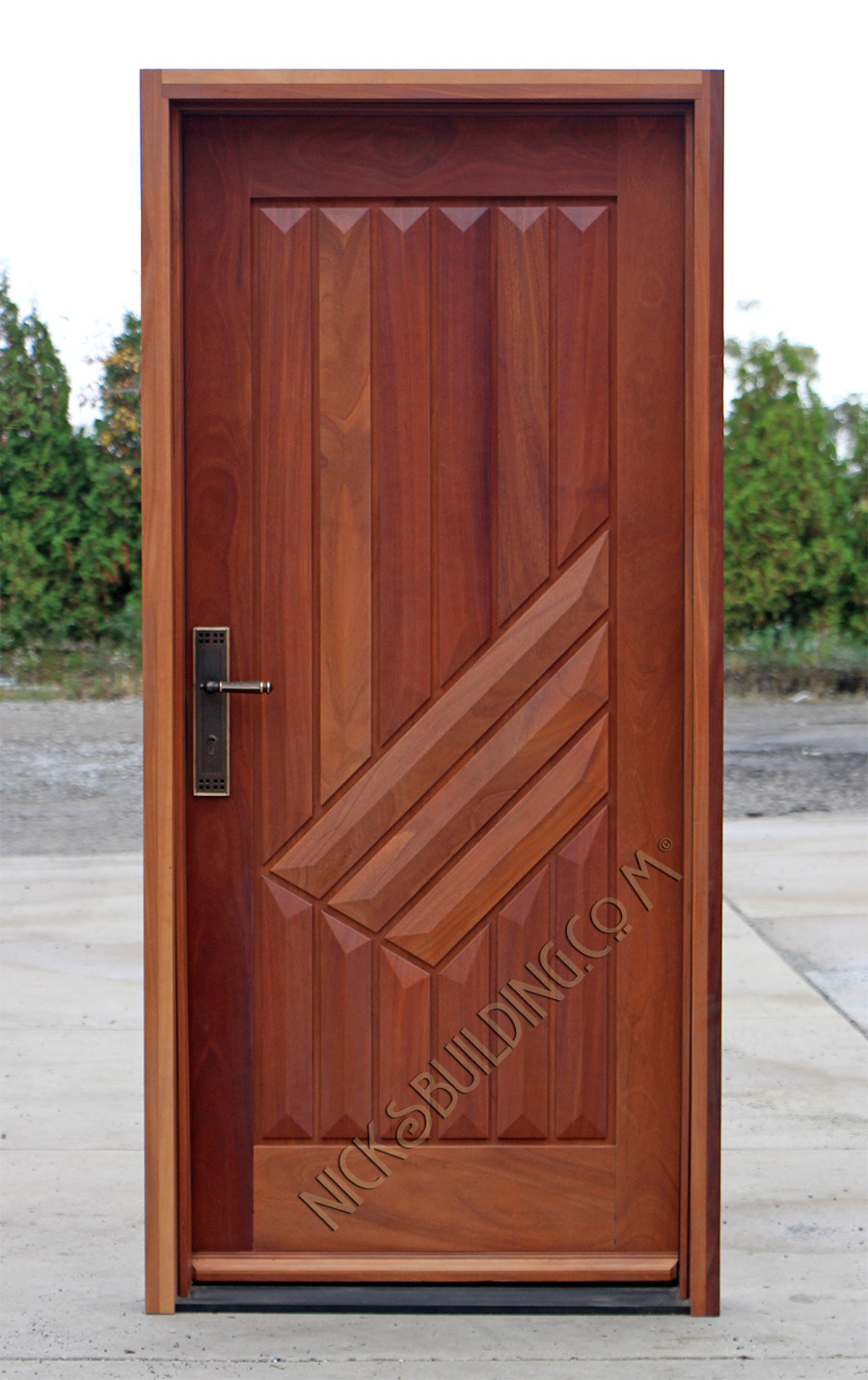 Armored Security Door & Security Armored Doors in Mahogany CL-69 Pezcame.Com