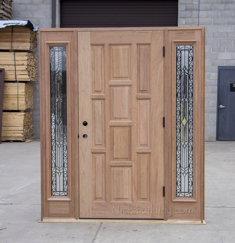 Exterior solid mahogany doors cl 667 solid mahogany wood clearance door cl 667 inside view rubansaba