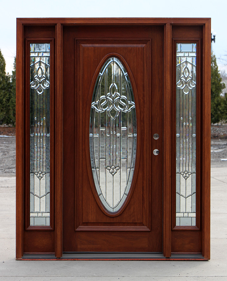 Exterior Door With Oval Glass