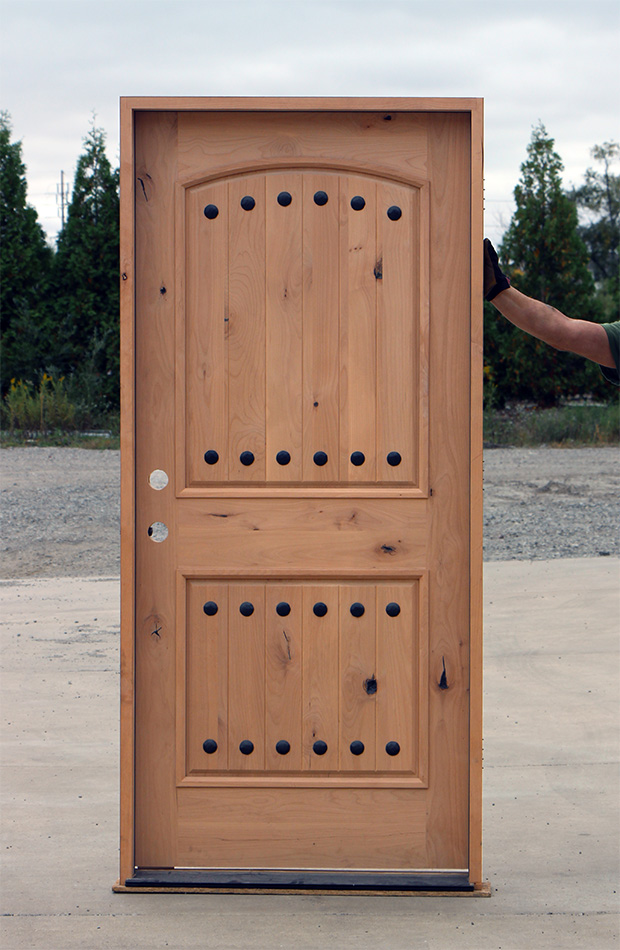 Rustic wood doors on clearance cl 64 for Cheap wooden doors