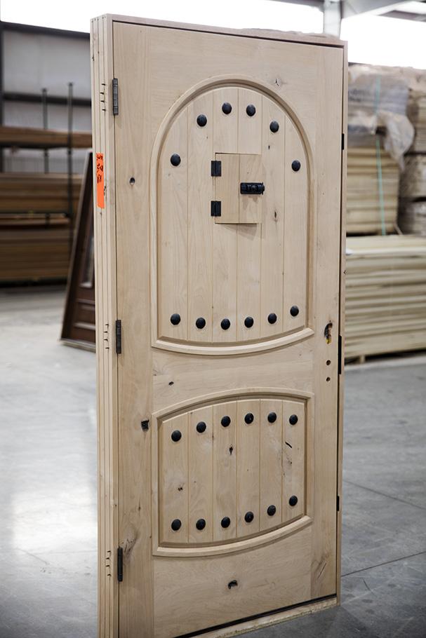 Knotty Alder Rustic Exterior Front Door