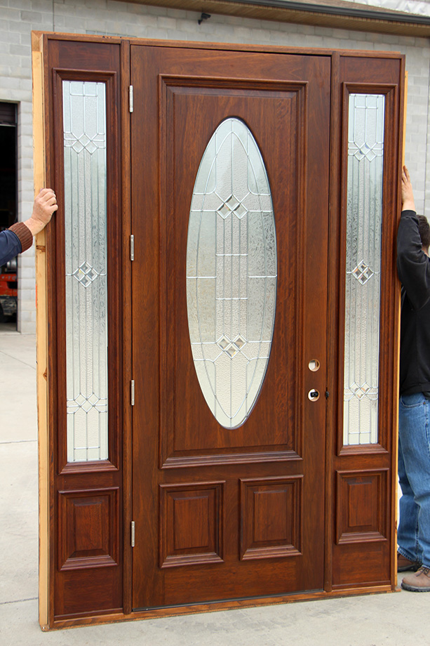 Oval Glass Doors Clearance Priced