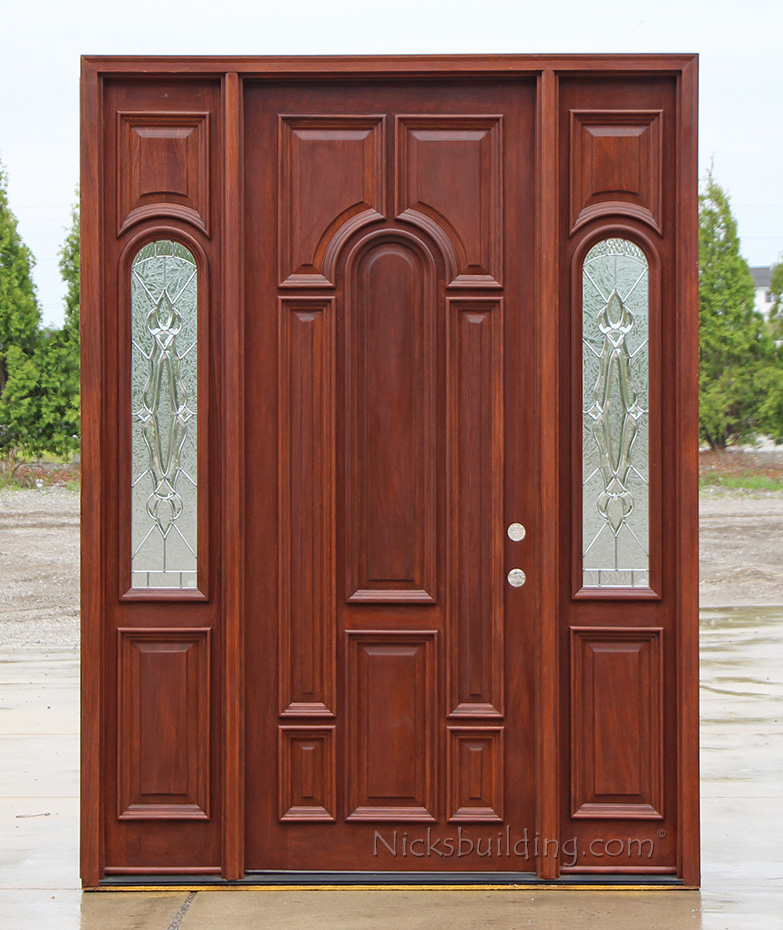 Nice exterior solid mahogany doors for Mahogany entry doors