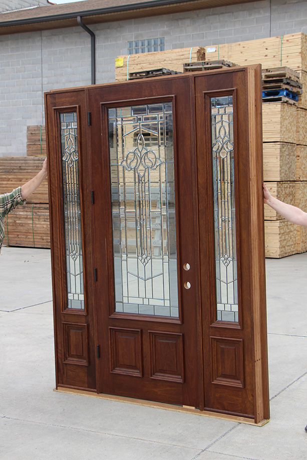 Exterior mahogany doors in special walnut stain for Best finish for exterior wood threshold