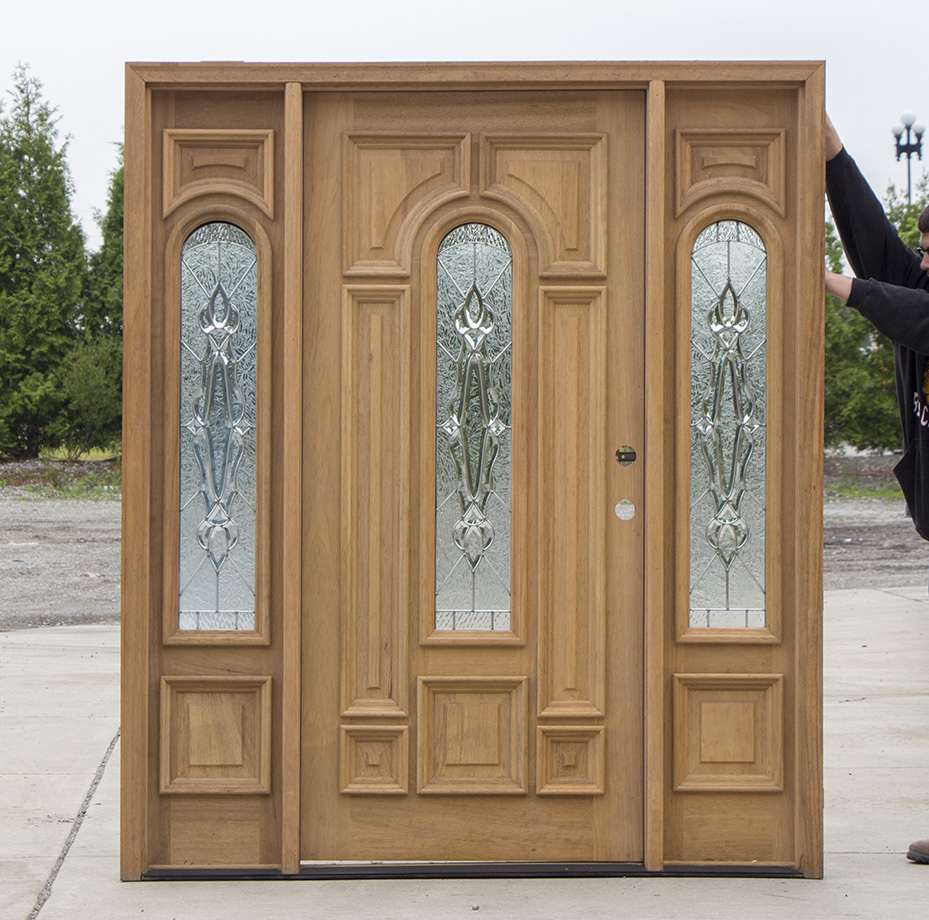 Exterior Door With Arched Glass And 14 Sidelights