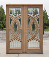 CL-141 Modern Glass Exterior Double Doors