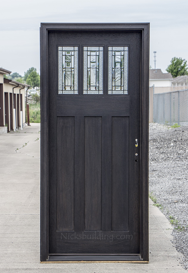craftsman entry door in ebony stain with 3 point locking system