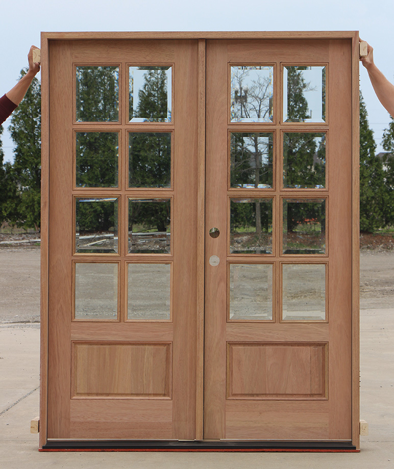 Exterior mahogany double doors 8 lites for 8 lite exterior door