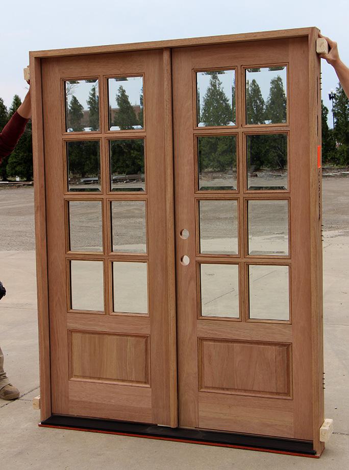 Modern Exterior Door With Multi Point Locks 4 Door Lites: Exterior Mahogany Double Doors 8-Lites