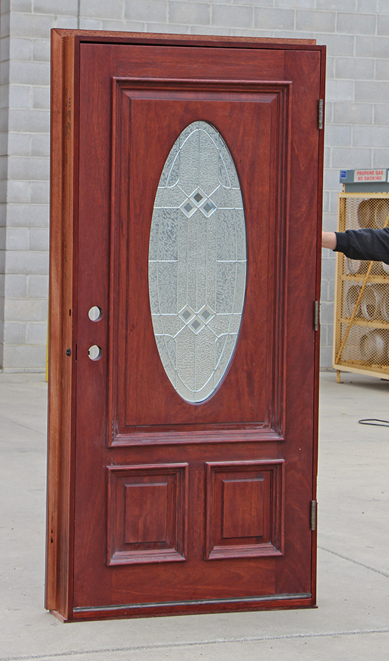 Oval Glass Entry Doors Mahogany