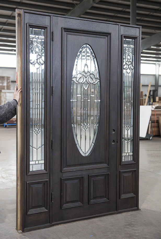 Cl A1 Mahogany Exterior Door Ebony Finish