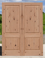 CL-147B 2 Panel Knotty ALder Exterior Doors Square Panels