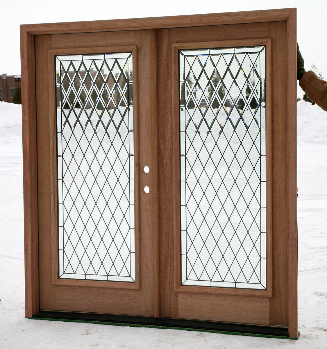 Exterior double doors full lite double doors for Double front doors