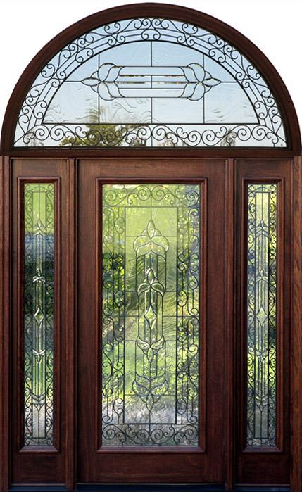 Half Round Transom Doors Wrought Iron Mahogany Doors