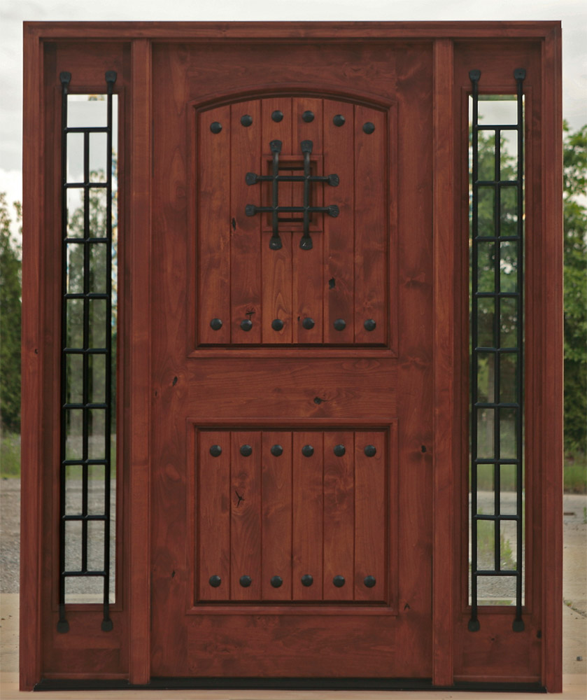 Entry Doors Wood And Iron Entry Doors