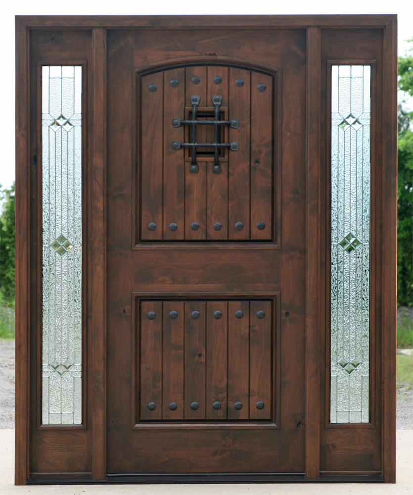 Exterior Door with Sidelights - Pre-finished